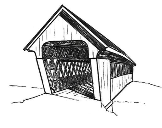 Covered Bridge Illustration